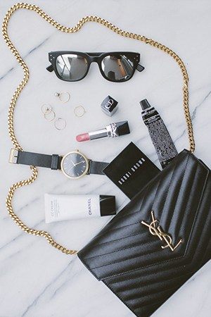 yes to ysl; bobbi brown, chanel, christian dior, grown and golden accoutrements
