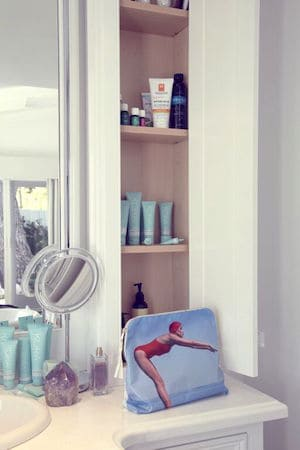 HER beauty cupboard is meticulously filled with Kora Organics products, sunscreen and essential oils.