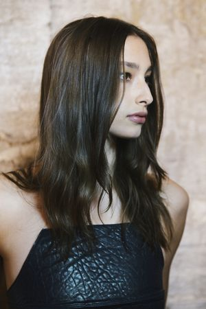 Backstage at Christopher Esber