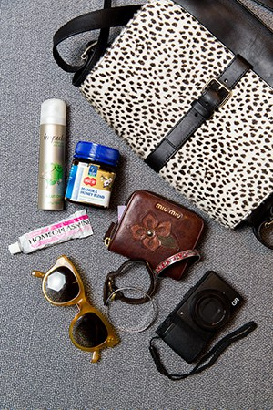 Zippy's purse is filled with anything she might need on-the-go