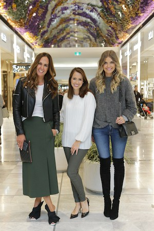 Sigourney HANGING with Tash and Elle from they all hate us at the opening of eastland's beauty garden