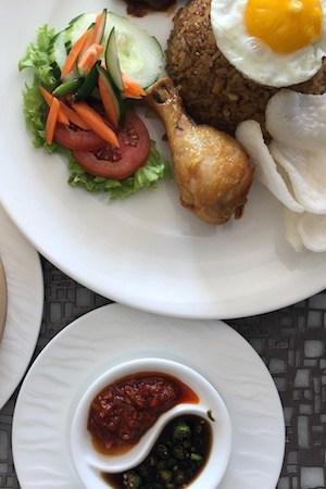 the mulia's glam version of nasi goreng