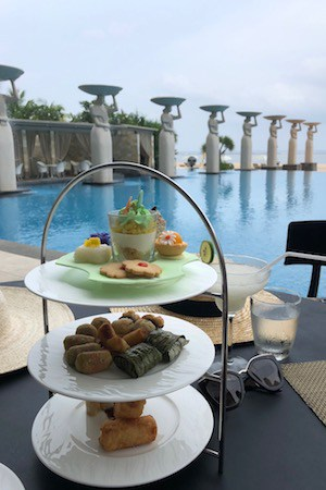complimentary afternoon tea at the mulia