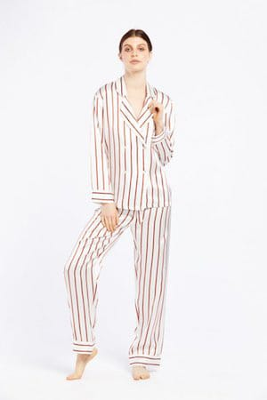 GINIA SILK PYJAMA SET WITH DELICATE NECK